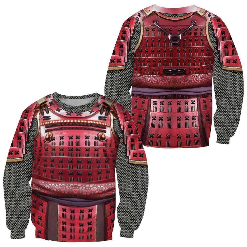 34b0340c8cd5 3D All Over Printed Samurai Red Armor Set Shirts and Shorts ...