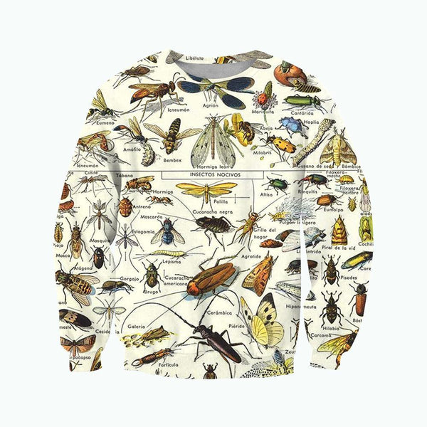 3D All Over Printed Insects Clothes