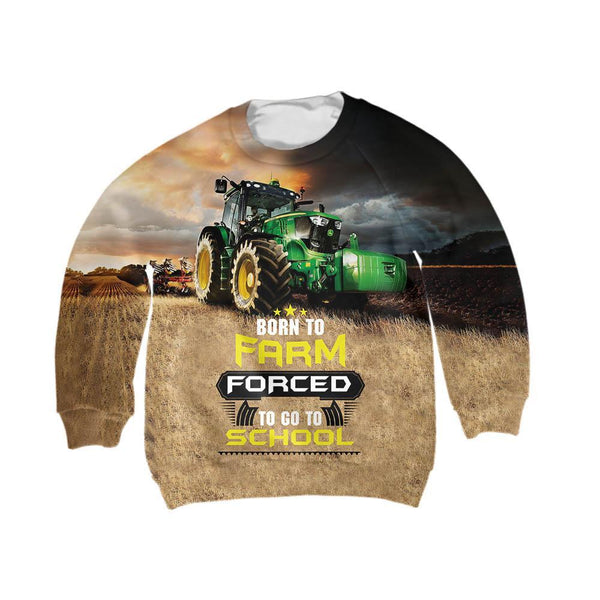 Born to Farm Forced to go to school Shirt - Jumanteez - Apparel