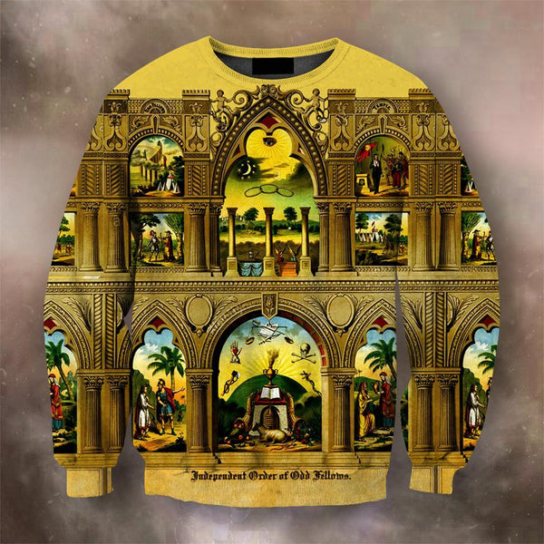 3D All Over Print Odd Fellows History Hoodie