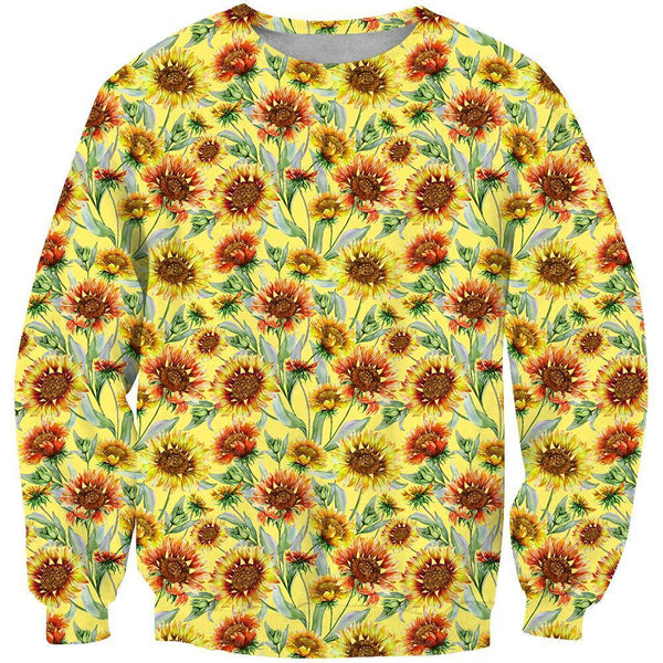 3D All Over Printing Sunflower Shirt