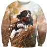 3D All Over Print Hunting Dog Pheasant Hoodie