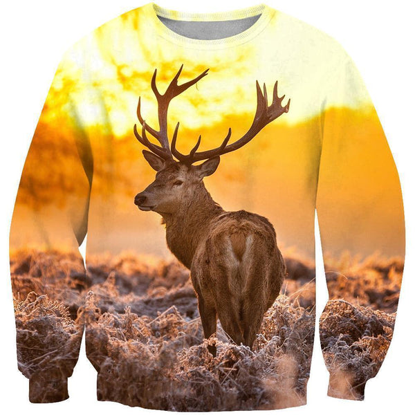 3D All Over Print Twilight And Deer Hoodie