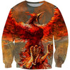 3D All Over Printing Monsters of fire Phoenix Shirts