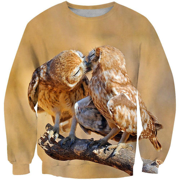 3D AOP Owls Kiss Shirts
