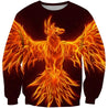 3D All Over Printing Fire Phoenix Flying Hoodie