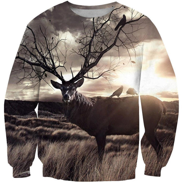 3D All Over Print Wild Of The Deer Hoodie