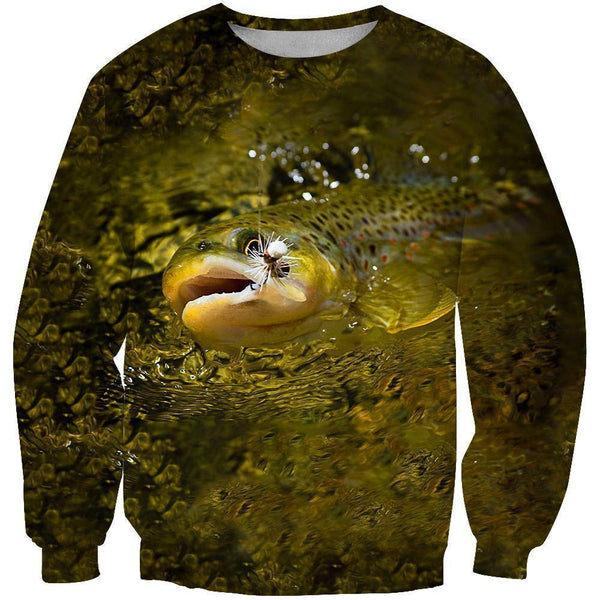 3D All Over Printing Fishing Trout Hoodie