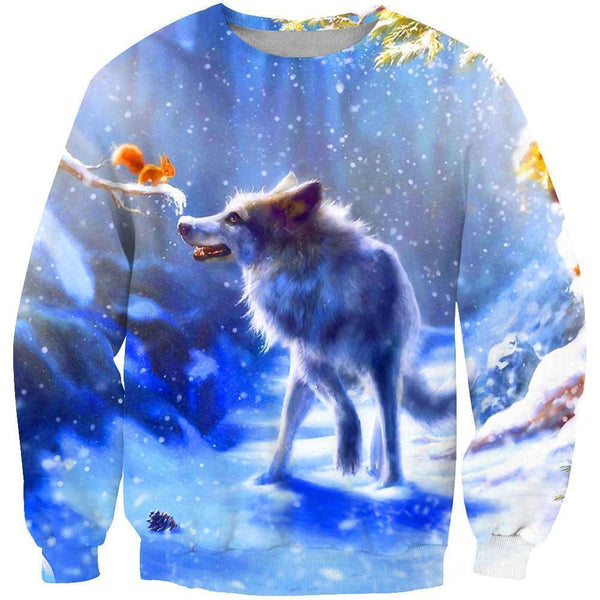 3D All Over Print  Animals Wolves Hoodie