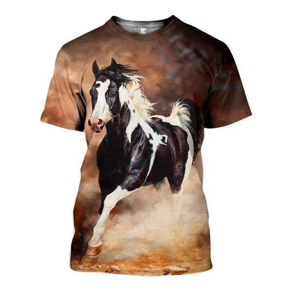 3D All Over Printed Pinto Horse Shirts