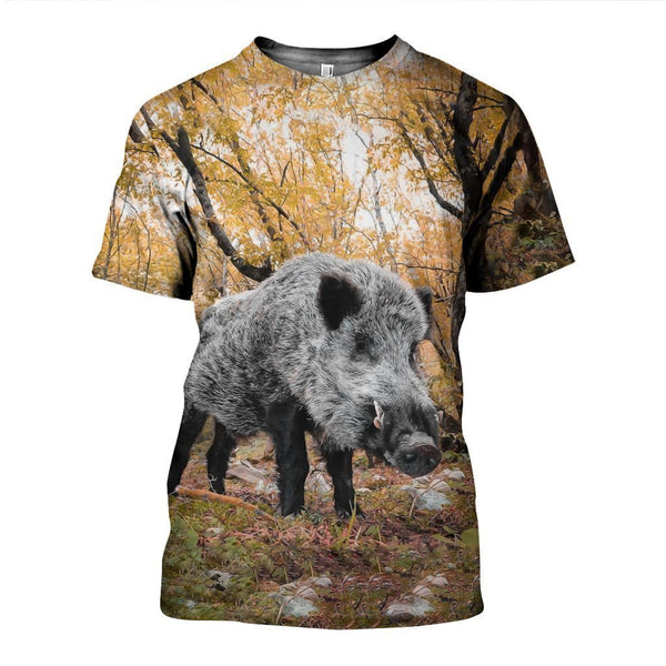3D All Over Printed Autumn Hunting Boar Shirts and Shorts