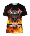 3D All Over Printed Firefighter T-shirt