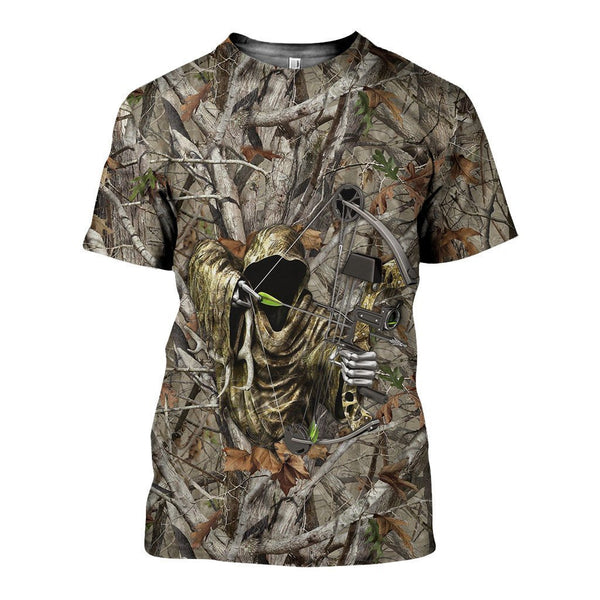 3D All Over Printed Bowhunting Camo Shirts And Shorts