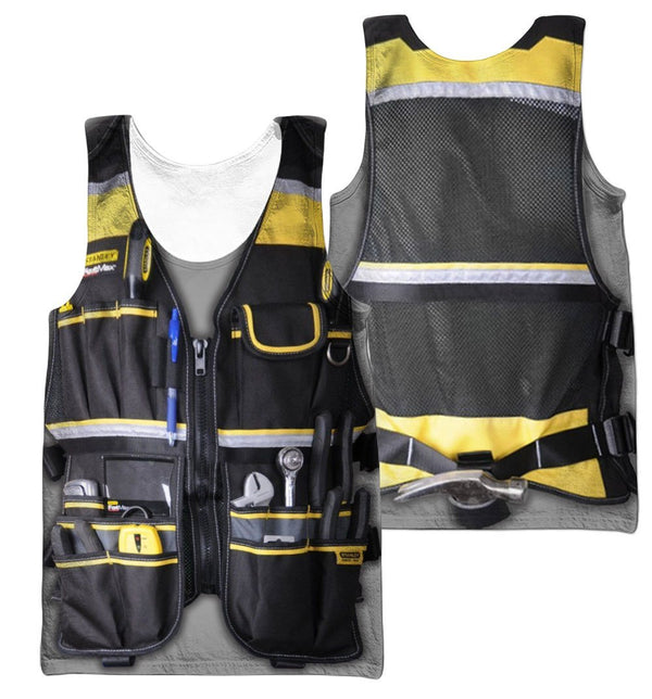 3D All Over Electrican Tank Top - Jumanteez - Apparel