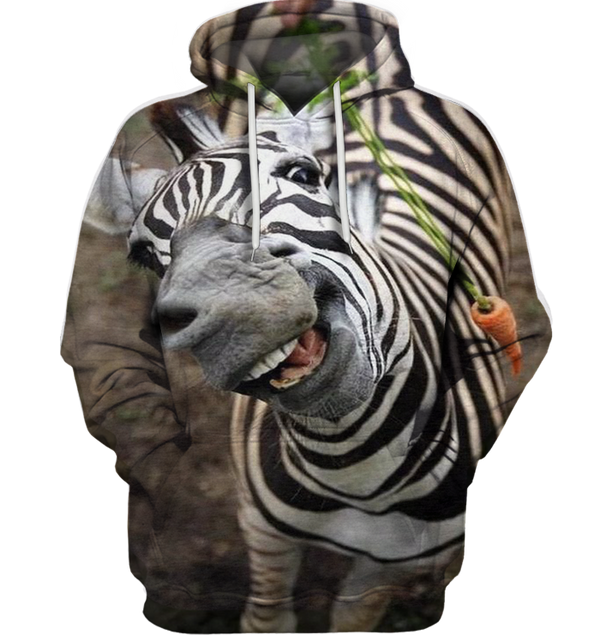 3D All Over Print Funny Zebra Face Shirt