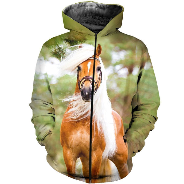 3D All Over Printed Horse Haflinger Shirts