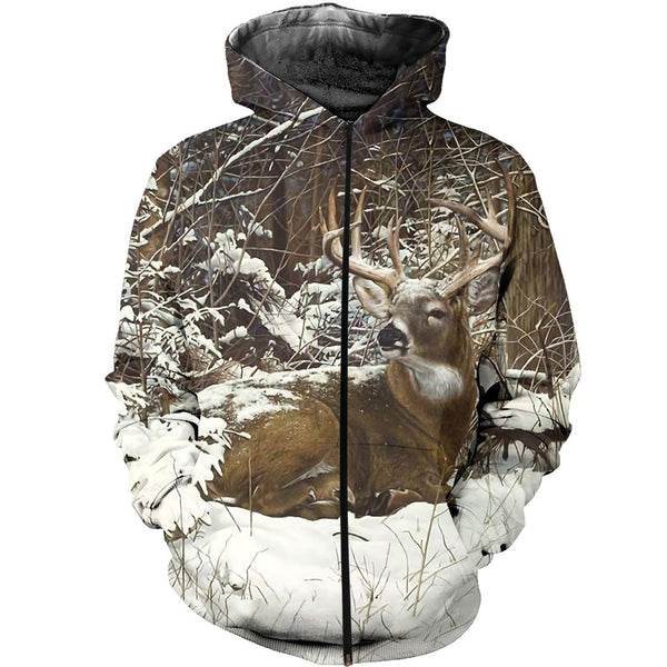 3D All Over Printed Winter Deer Shirts