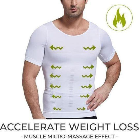 Men's Toning Compression T-Shirt for Back Support