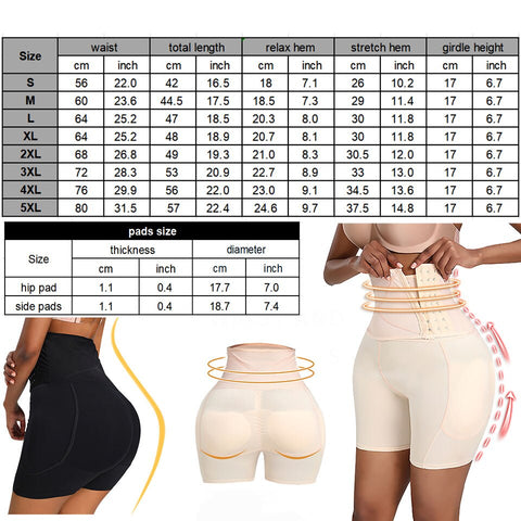 Waist Shaper Butt Lifter Shorts with Hip Pads