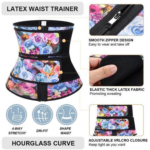 Latex Waist Cincher Belt for Waist Training