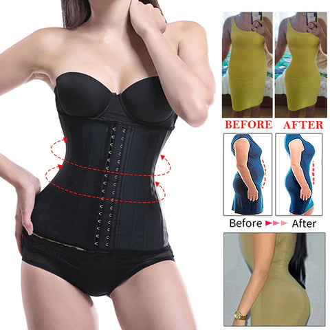 Latex Waist Trainer Slimming Waist Cincher Plus Size Corset