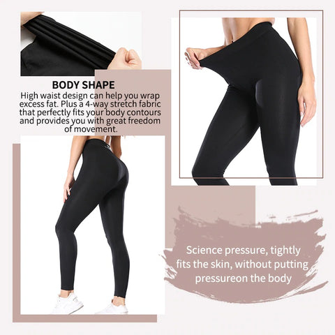 Women's Anti Cellulite Compression Leggings with Buttock Lifting Effect
