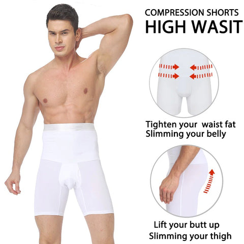 Men's Girdle Compression Shorts with Back Support