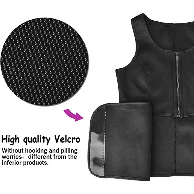 Sauna Sweat Vest with Zipper