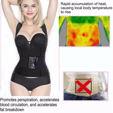 2 in 1 Waist Shaper Vest Girdle Belt