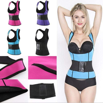 Girdle Waist Trainer Vest with Stomach Belt - ClepssyFit