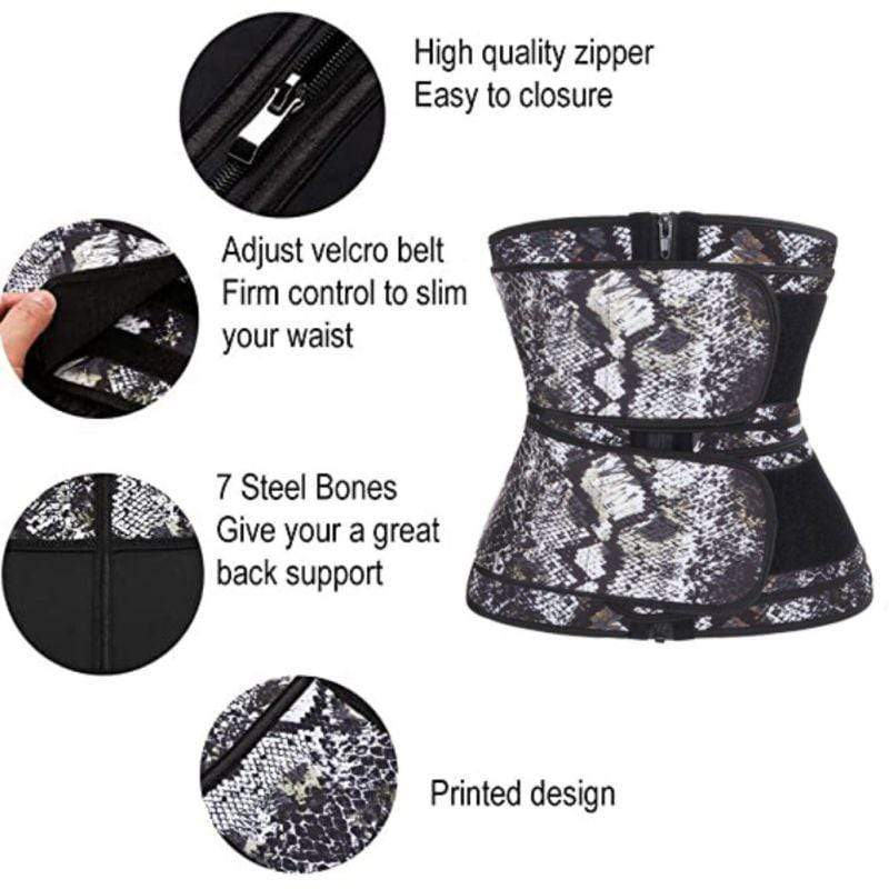 Latex Waist Cincher Belt for Waist Training - ClepssyFit
