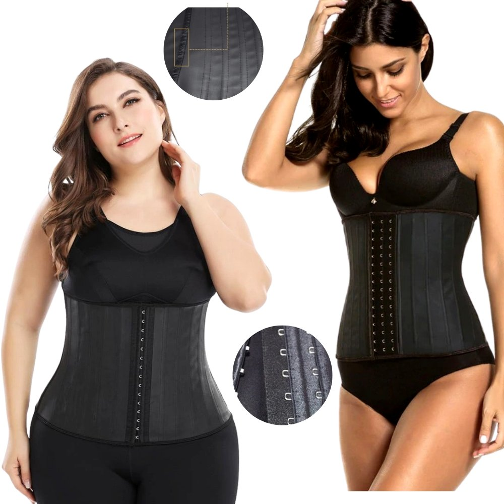Latex Waist Trainer Slimming Waist Cincher Plus Size Corset - ClepssyFit