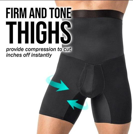 Men's Girdle Compression Shorts with Back Support - ClepssyFit
