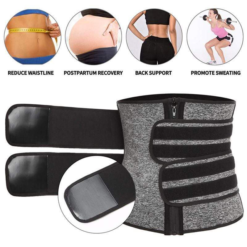 Neoprene Premium Waist Trainer Belt with Zipper - ClepssyFit