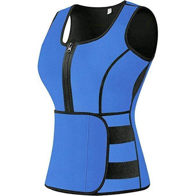 Sauna Sweat Vest with Zipper - ClepssyFit