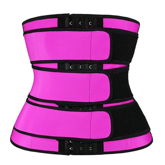 Waist Trainer Corset Sweat Belt with Three Straps and Hooks - ClepssyFit