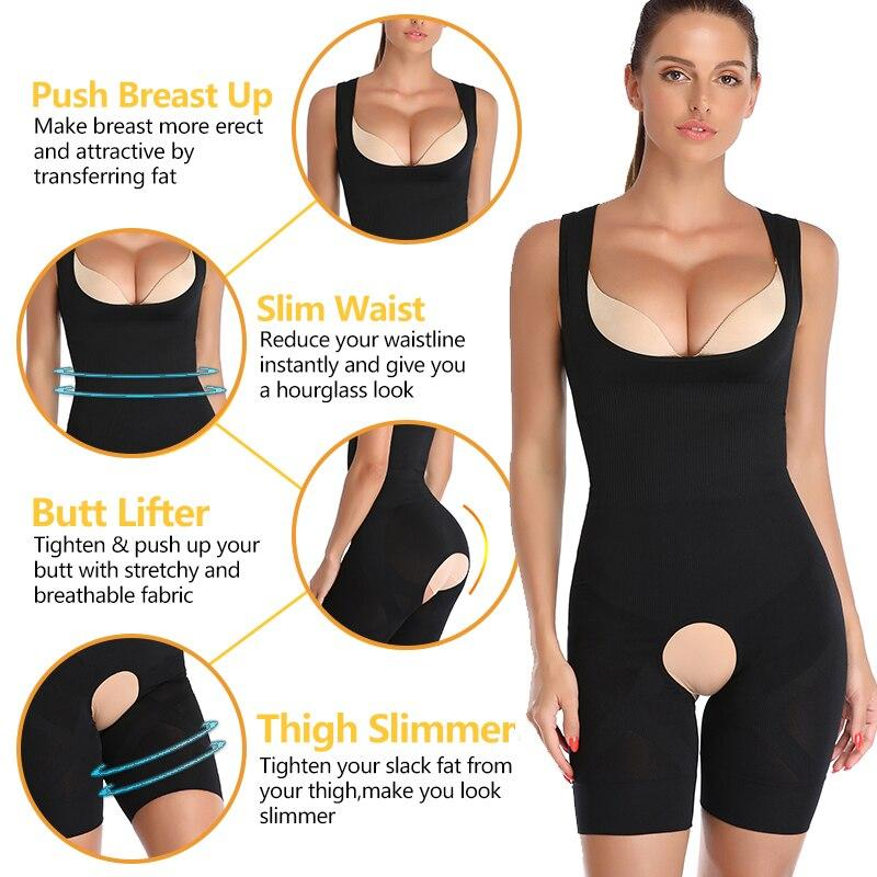 Women's Body Shaper Girdle Crotchless Bodysuit - ClepssyFit