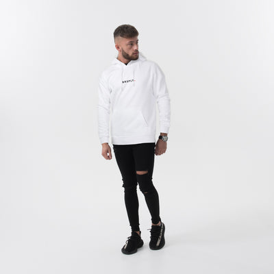 BRSPLY - White Rubber Print Hoodie