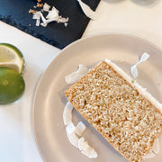 Coconut Lime & Thai Basil Loaf Cake (v)