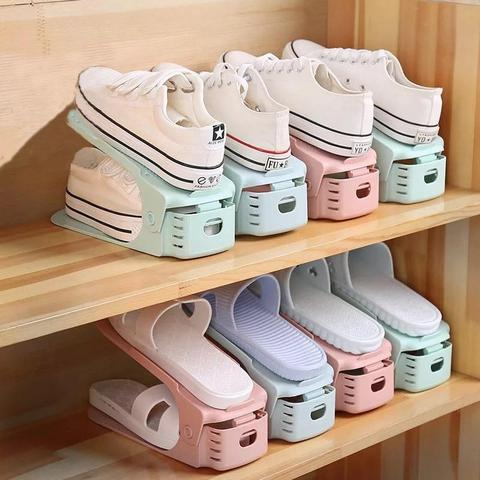 2019 New Shoe Rack Double Shoe Holder - A Shoe Storage Organizer Space Saving Storage Solution