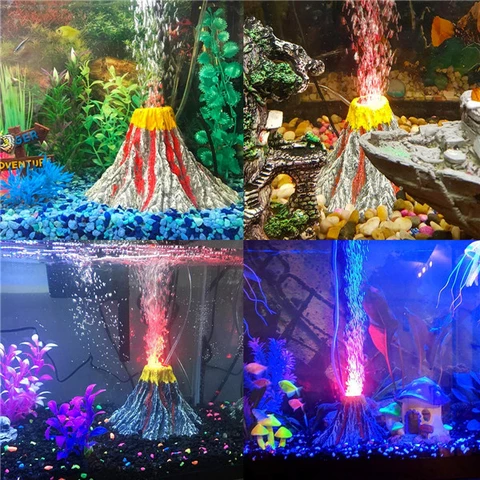 Waterproof Aquarium Volcano Ornament Kit