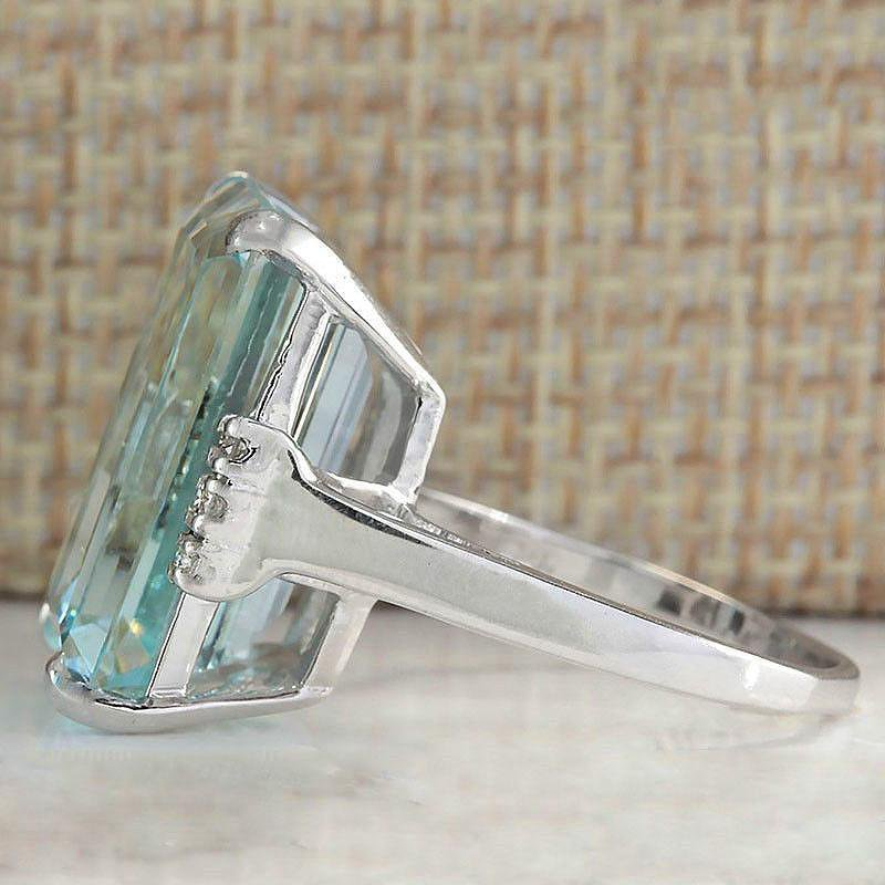 Aquamarine Ring - geniesave