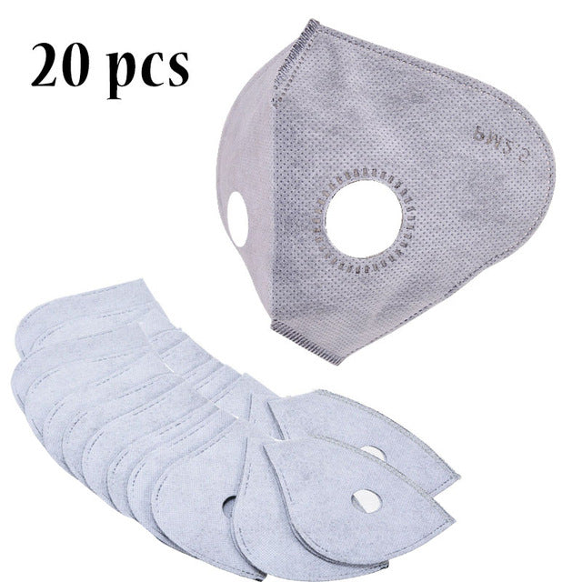 10-20pcs Activated Carbon Anti Dust Mouth N99 Face Mask Filter Set Insert Dustproof Health Care Supplies