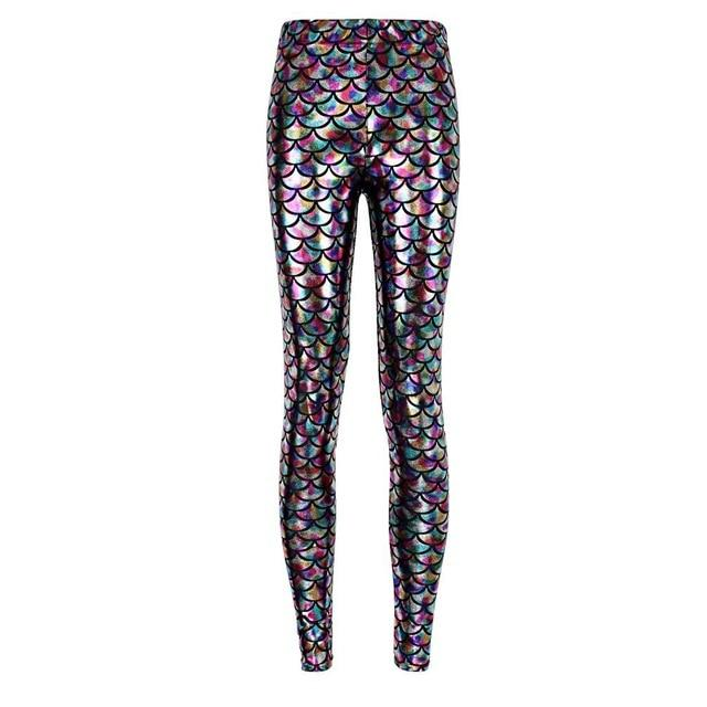 wholelsales Summer style women's Scale leggings 12 color S-XL size Simulation mermaid sexy pants Digital print colorful leggings - geniesave