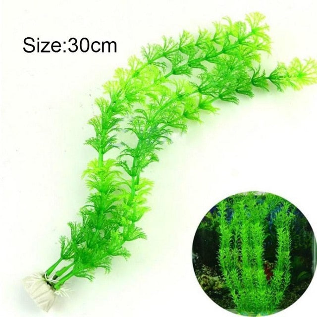 VIVID ARTIFICIAL PLANTS FISH TANK DECORATIONS