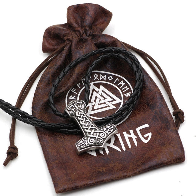 Thor's Hammer Mjölnir Viking Pendant With Free Gift Bag