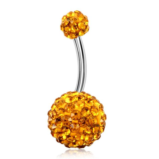 Rhinestone Belly Bar's - geniesave
