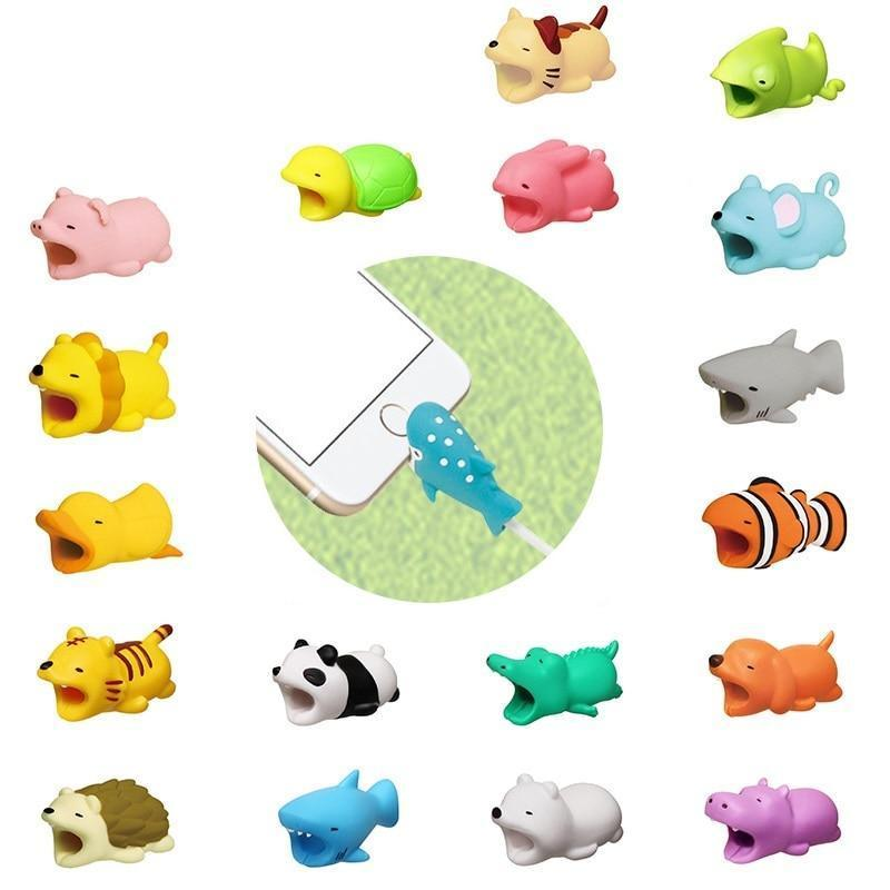 The Cute Animal Cable Cord Bite for iphone 5 6 7 8  X XS