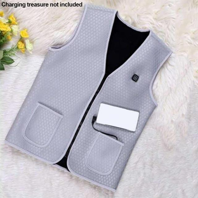 🔥 USB Gray Heated Outdoor Vest 🔥 - geniesave