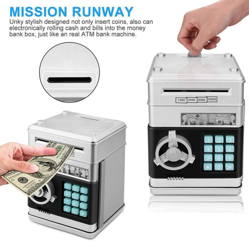 Creative ATM Password Piggy Banks Kids Cash Coin Saving Money Boxes Coin Piggy Bank Money Saving New Year Box Moneybox - geniesave